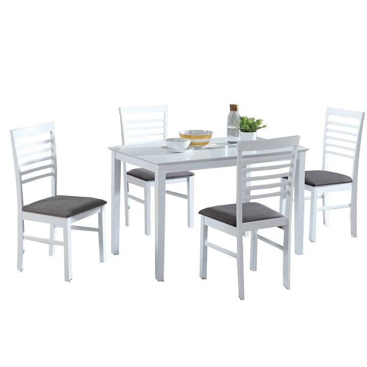 ebédlő azstal és szék fehér