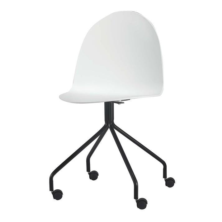 modern formatervezett szék kereken, fehér/fekete, BRUNA 1662-S ...