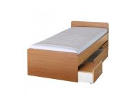 Ágy ágyneműtartóval, bükkfa, 90x200 cm, DUET 80262, Kategória:Gyerekágyak, Szélesség:cm Hosszúság:cm Magasság:cm