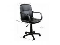 AYLA irodai szék, Kategória:Irodaszék, Szélesség:cm Hosszúság:cm Magasság:cm