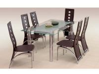Bond üveg étkezõ asztal, Kategória:Asztalok (étkező), Szélesség:90cm Hosszúság:160cm Magasság:76cm