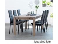 Étkezőszék, fehér textilbőr + fém - fehér, COLETA NOVA, Kategória:Étkező székek, Szélesség:cm Hosszúság:cm Magasság:cm