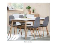 étkezőszék világos szürke +tölgy Sonoma, LEGA TC -003, Kategória:Étkező székek, Szélesség:cm Hosszúság:cm Magasság:cm