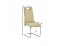 Étkezőszék, zöld szövet/világos varrásal, ABIRA NEW, Kategória:Étkező székek, Szélesség:cm Hosszúság:cm Magasság:cm