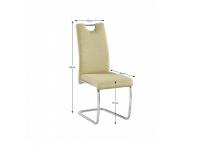 Étkezőszék, zöld/világos tűzés ABIRA NEW, Kategória:Étkező székek, Szélesség:cm Hosszúság:cm Magasság:cm