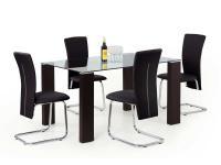 Jackie üveg étkezõ asztal, Kategória:Asztalok (étkező), Szélesség:90cm Hosszúság:140cm Magasság:75cm