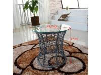 Kiegeszitö asztalka ,szürke keret+üveg, SALMAR, Kategória:Asztalok (dohányzó), Szélesség:cm Hosszúság:cm Magasság:cm