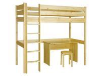 Leo galéria ágy, Kategória:Fenyő ágyak és ágykeretek, Szélesség:90cm Hosszúság:200cm Magasság:cm