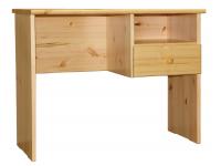 Marcus 1 fiókos, polcos íróasztal, Kategória:Fenyő asztalok és székek, Szélesség:73cm Hosszúság:92cm Magasság:50cm