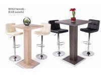 Bogi bárszék + BAR asztal (2+1), Kategória:Étkező garnitúrák, Szélesség:40cm Hosszúság:35cm Magasság:105cm