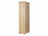 Claudia félszekrény polcos, Kategória:Fenyő szekrények, Szélesség:40cm Hosszúság:45cm Magasság:180cm