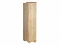 Claudia félszekrény polcos, Kategória:Fenyő szekrények, Szélesség:45cm Hosszúság:65cm Magasság:180cm