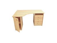 Vanessa kicsi sarokíróasztal - ajtós, Kategória:Fenyő asztalok és székek, Szélesség:100cm Hosszúság:140cm Magasság:74cm
