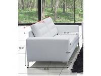 Szövetborítású 2-ülés, fehér textilbőr, ORAGION, Kategória:Kanapé, Szélesség:cm Hosszúság:cm Magasság:cm