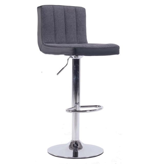 Bárszék, szürke/fekete, HILDA, Kategória:Étkező székek, Szélesség:cm Hosszúság:cm Magasság:cm