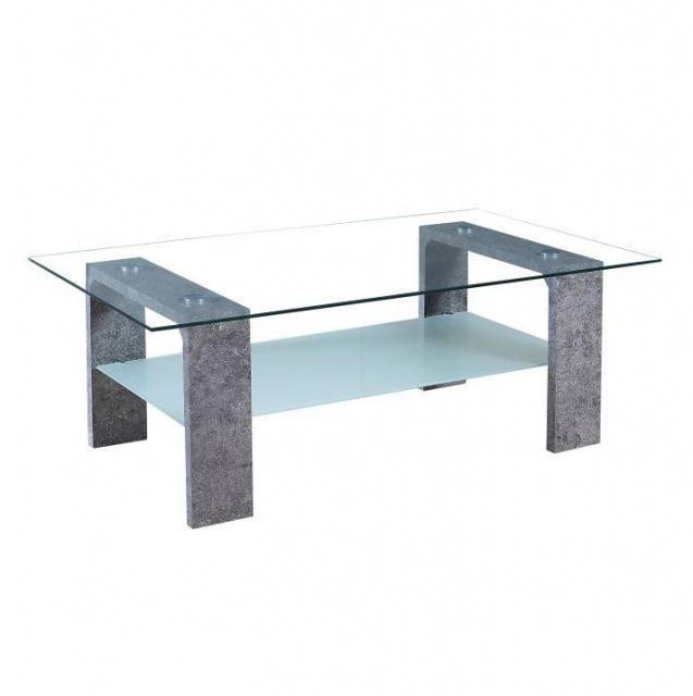 Dohányzóasztal, beton lábakkal , edzett üveg -áttetsző , BELTON TT-1662, Kategória:Asztalok (dohányzó), Szélesség:cm Hosszúság:cm Magasság:cm