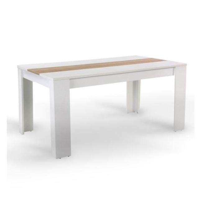 Étkezőasztal, fehér/sonoma tölgyfa, 140x80 cm, RADIM, Kategória:Étkező asztalok, Szélesség:cm Hosszúság:cm Magasság:cm