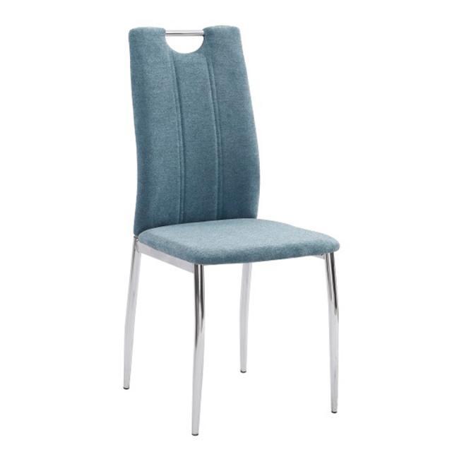 Étkezőszék, ciánkék szövet/króm, OLIVA NEW, Kategória:Étkező székek, Szélesség:cm Hosszúság:cm Magasság:cm