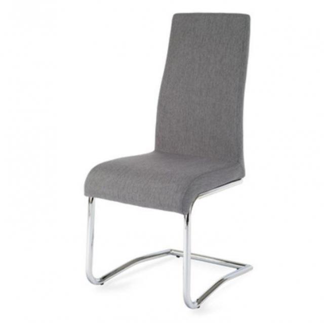 Étkezőszék, króm + világosszürke szövet, AMINA, Kategória:Étkező székek, Szélesség:cm Hosszúság:cm Magasság:cm