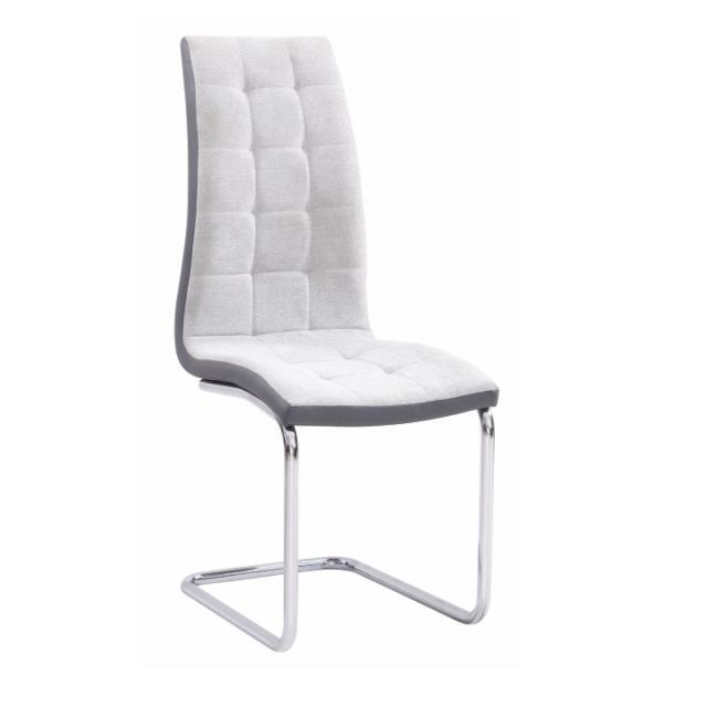 Étkezőszék, világosszürke/szürke/króm, SALOMA New, Kategória:Étkező székek, Szélesség:cm Hosszúság:cm Magasság:cm