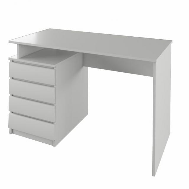 HANY pc asztal , fehér, Kategória:Íróasztal és számítógépasztal, Szélesség:cm Hosszúság:cm Magasság:cm