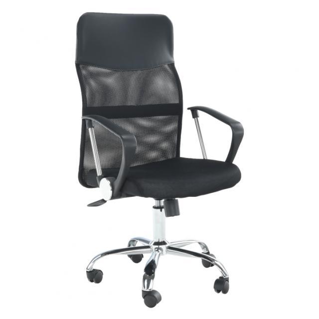 Irodai fotel, fekete, TC3-973M 2 NEW, Kategória:Irodaszék, Szélesség:cm Hosszúság:cm Magasság:cm