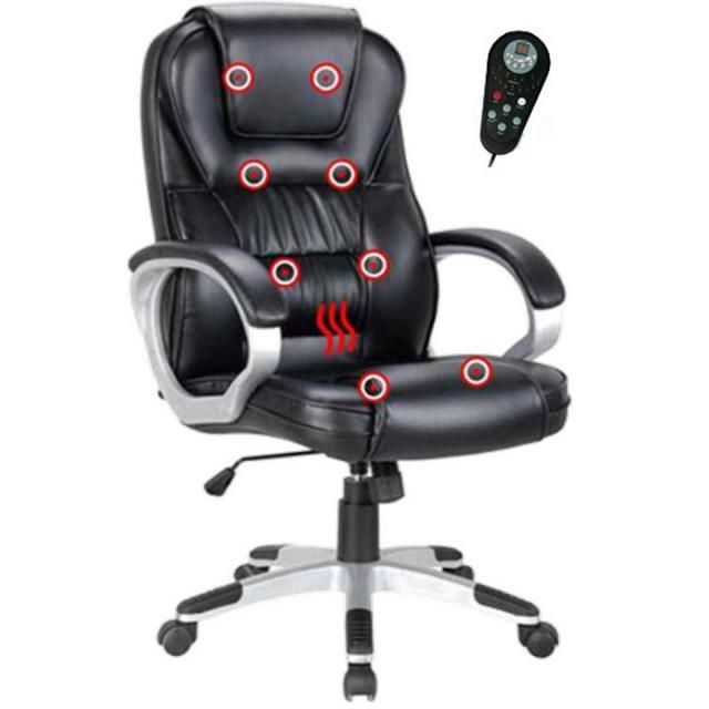 Irodai szék fekete textilbőr/műanyag TYLER, Kategória:Irodaszék, Szélesség:cm Hosszúság:cm Magasság:cm