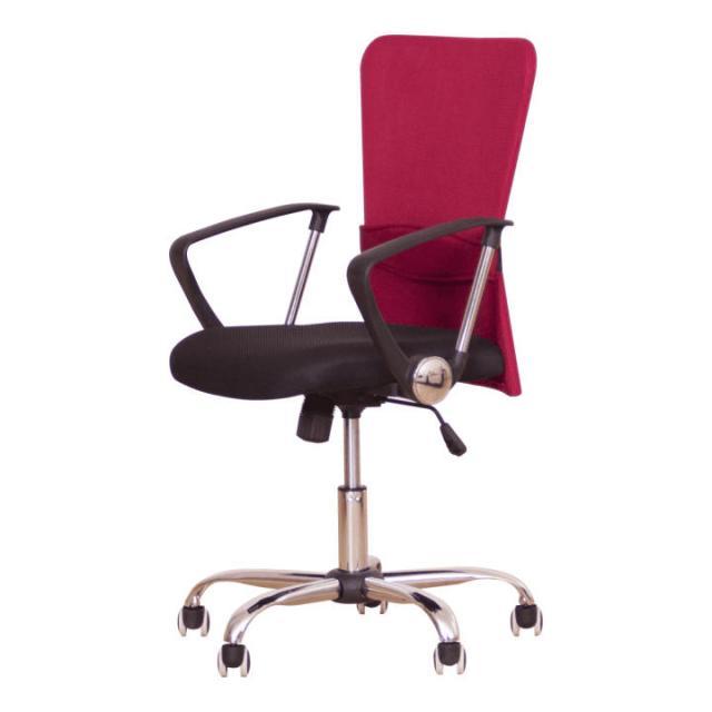 Irodai szék, fekete ülés, háttámla piros, AEX, Kategória:Irodaszék, Szélesség:cm Hosszúság:cm Magasság:cm