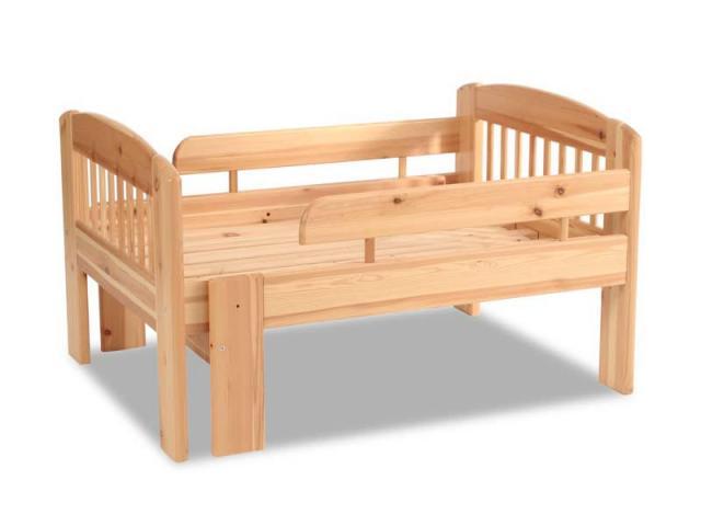 Leo 3 lépésben hosszabbítható gyerekágy, Kategória:Fenyő ágyak és ágykeretek, Szélesség:80cm Hosszúság:105cm Magasság:cm