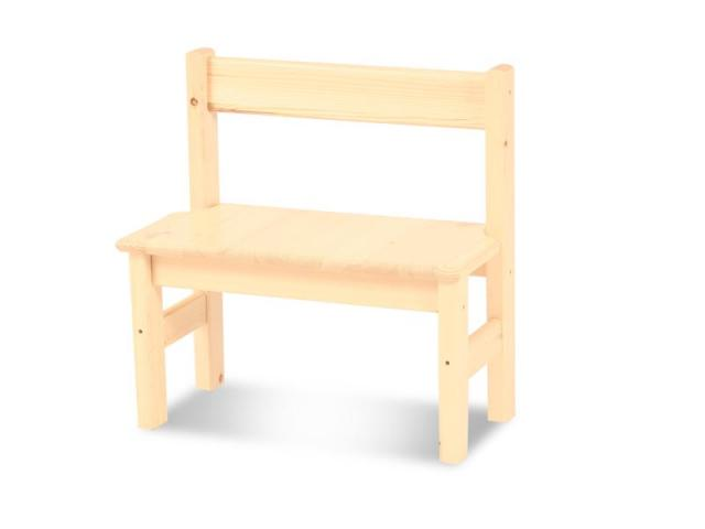 Leo gyerek pad, Kategória:Fenyő asztalok és székek, Szélesség:53cm Hosszúság:54cm Magasság:27cm