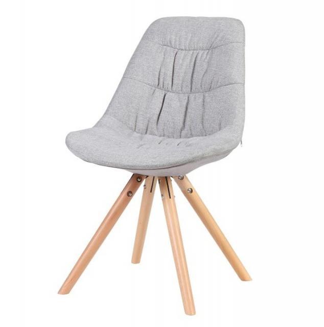 Modern steppelt szék, szürke/bükk, REGE, Kategória:Székek (étkező), Szélesség:cm Hosszúság:cm Magasság:cm