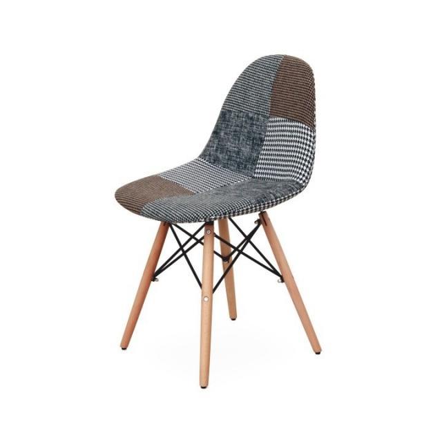 Modern szék, mintás textil, PEPITO 9 típus, Kategória:Székek (étkező), Szélesség:cm Hosszúság:cm Magasság:cm