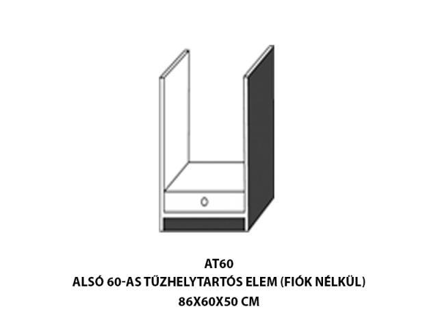 Neszta Alsó 60-as fiókos tüzhelytartós ATF60, Kategória:Elemes konyhabútorok, Szélesség:60cm Hosszúság:50cm Magasság:83cm