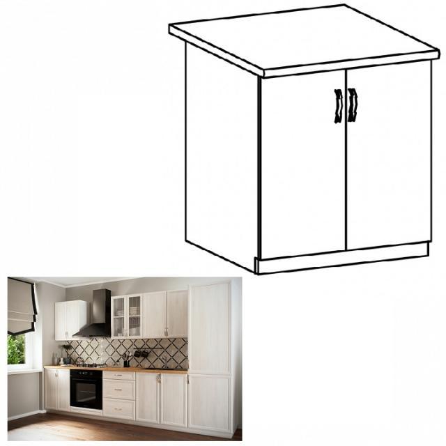 SICILIA D80 konyhai alsó szekrény, Kategória:, Szélesség:cm Hosszúság:cm Magasság:cm