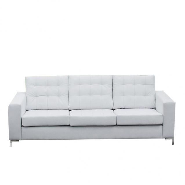 Szövetborítású 3-ülés, fehér textilbőr, ORAGION, Kategória:Kanapé, Szélesség:cm Hosszúság:cm Magasság:cm